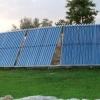 Aufgestellte Solaranlage